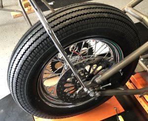 Rear wheel brake rotor and rear brake caliper