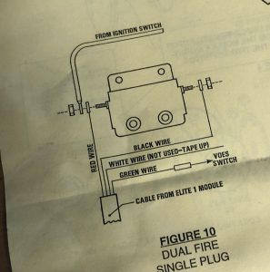 Compu-Fire HDE-1 Ignition Wiring Diagram from Instructions.
