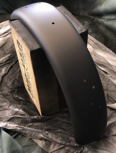 Rear fender flat black finish