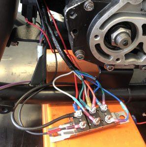 Wiring in the circuit breakers.