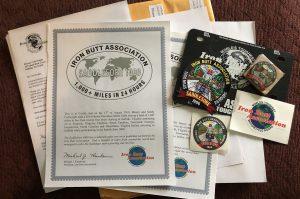 Iron Butt Association Saddle Sore 1000 Certificate