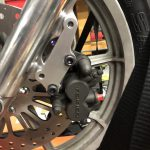 2007 Ninja EX650 Brake Caliper mounted on a Sportster