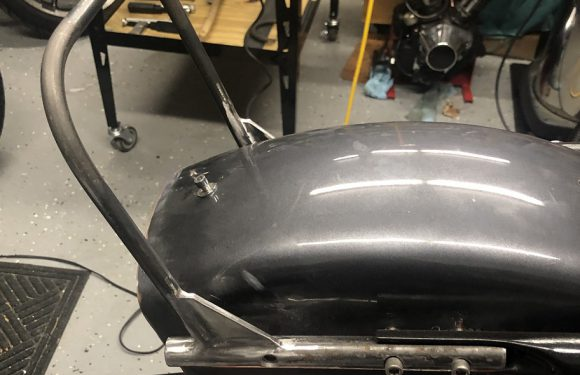 Garage Built Sissy Bar – Part I…