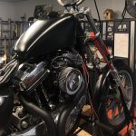 Sportster Tank and Front Fender Painted Satin Black