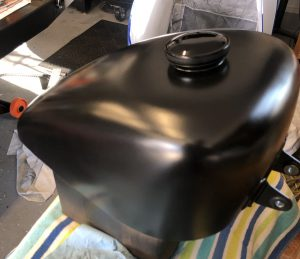 Sportster Fuel Tank Rattle Can Satin Black