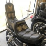 Old school king queen Harley Davidson Sportster seat.