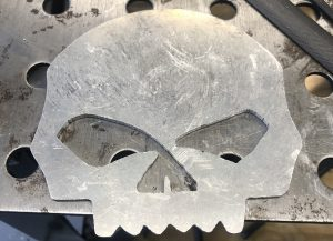 Wille G Skull - Cut out of Aluminum