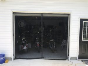 Garage Screen from the outside.
