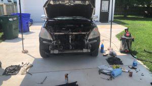 Johnathan's CRV disassembled.