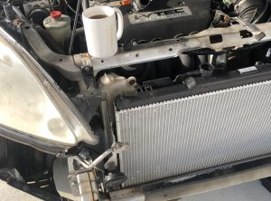 Johnathan's new radiator in the CRV