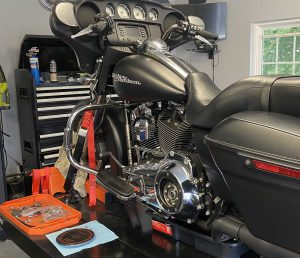 Street Glide Primary, Transmission, and Engine Oil Change.