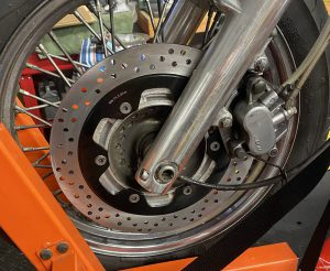 Honda Shadow Front Brake Rotor and Caliper