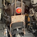 Garage built sissy bar