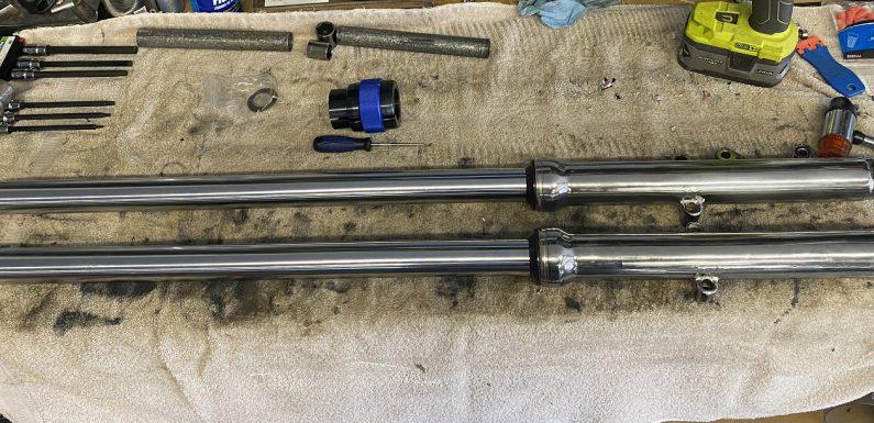 8 over front fork tubes…