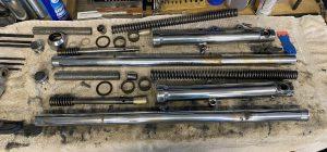Sportster Front Forks Disassembled