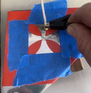 Maltese Cross Electrical Etching