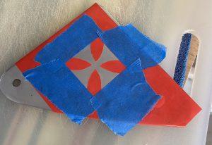 Maltese Cross Vinyl Stencil