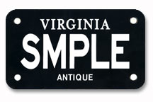Antique Motorcycle Plates - Black and White