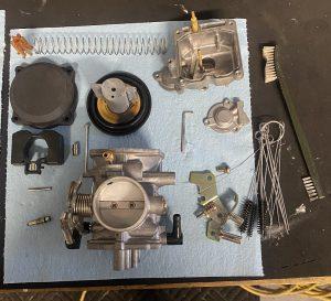 Harley Davidson Carburetor Cleaned and Ready for Rebuild