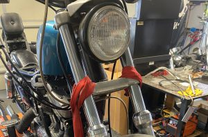 Front Forks Reassembled on the 1990 Sportster